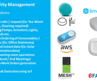 IoT Smart Buttons implementation at our eFACiLiTY® Building