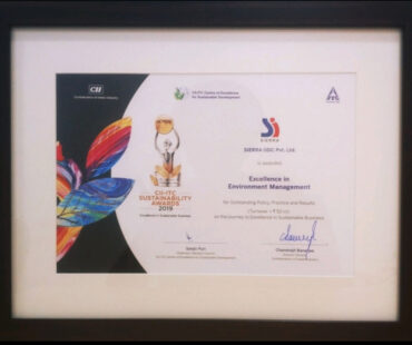 SIERRA awarded Excellence in Environment Management at the CII-ITC Sustainability Awards 2019