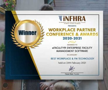SIERRA's flagship product eFACiLiTY® wins iNFHRA's Workplace Partner Awards 2021